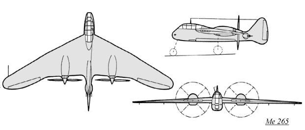 Noticias de aviones. Noticias de aviación. Messerschmitt 265.