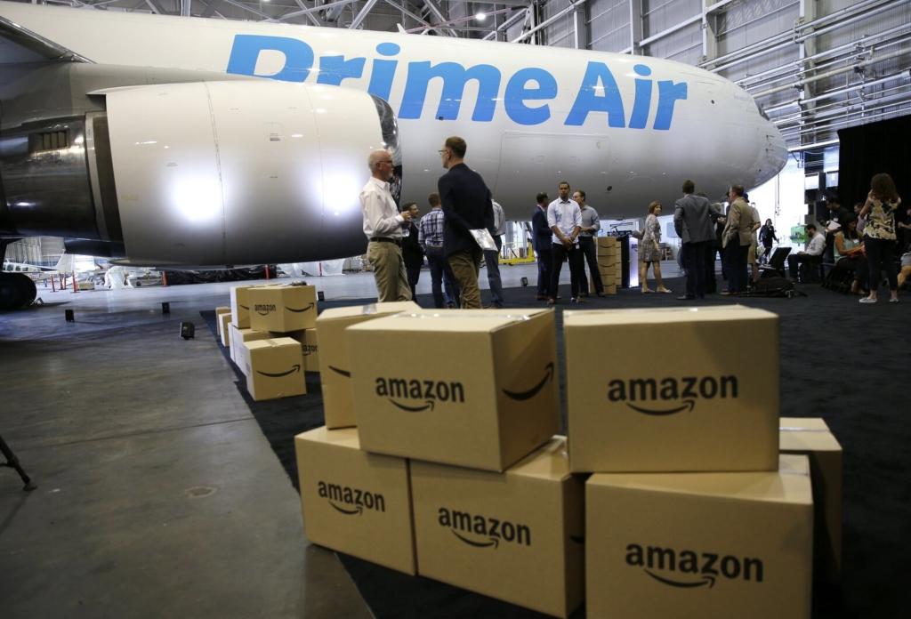 Noticias de aviación. Noticias de compañías aéreas. Avión de la flota de Amazon Prime Air