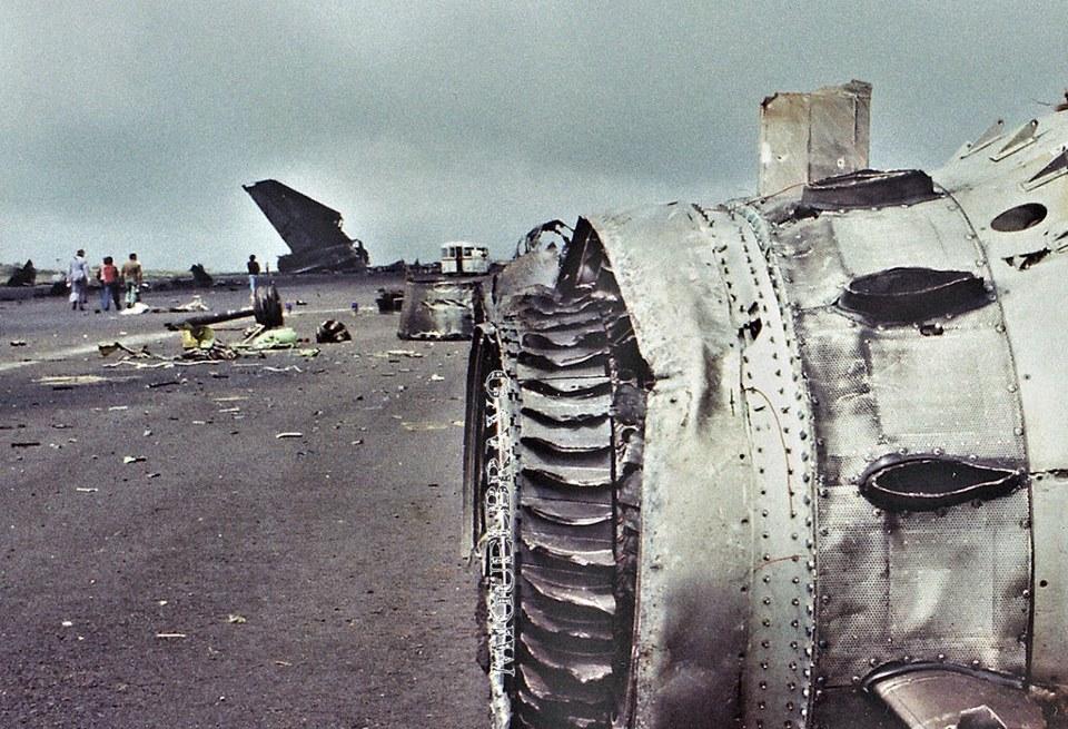 Noticias de aeropuertos. Noticias de aviación. Restos de uno de los Boeing 747 accidentados en Los Rodeos