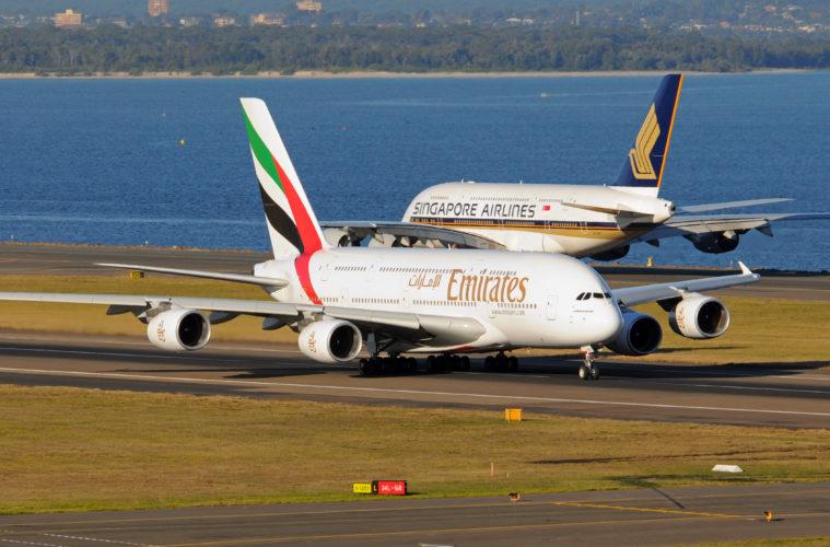 Noticias de compañías aéreas. Noticias de aerolíneas. Dos Airbus A380 de Emirates y Singapore Airlines