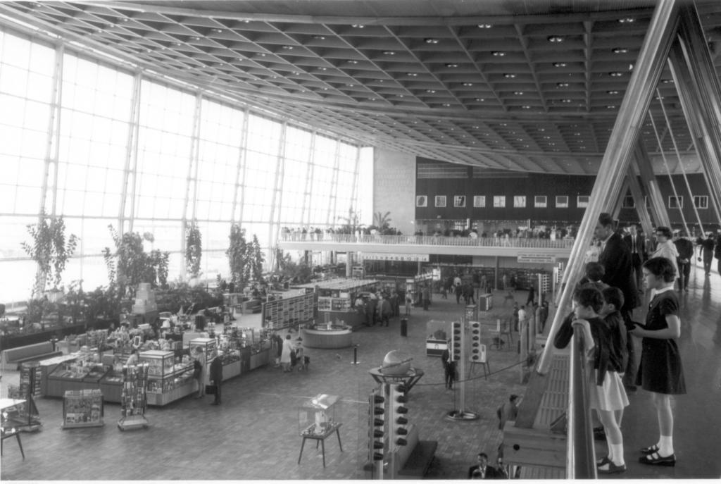 Noticias de aeropuertos. Skyhall del aeropuerto de Bruselas en 1958