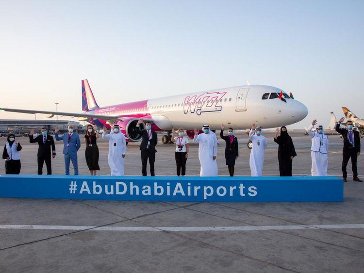 Noticias de compañías aéreas. Noticias de aerolíneas. Airbus A321neo de Wizz Air en Abu Dhabi