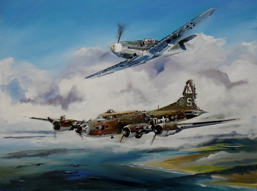 Noticias de aviación. Noticias de aviones. Pintura sobre el incidente Brown Stiegler