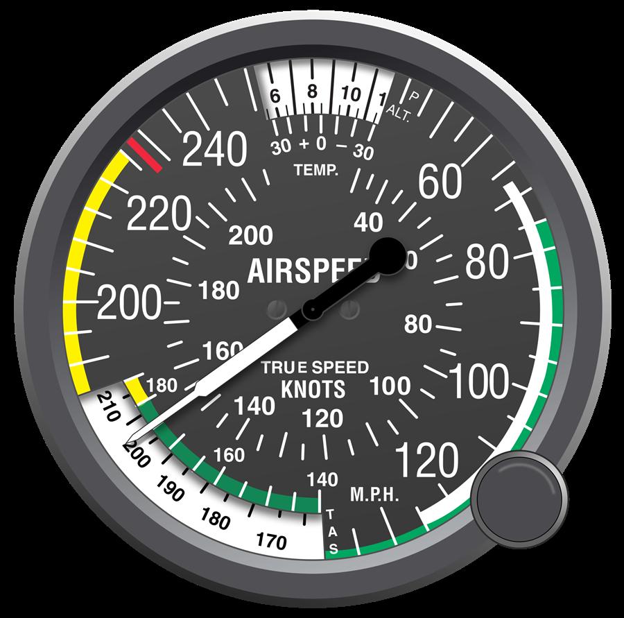 Noticias de aviones. Noticias de aviación. Anemómetro de un avión.