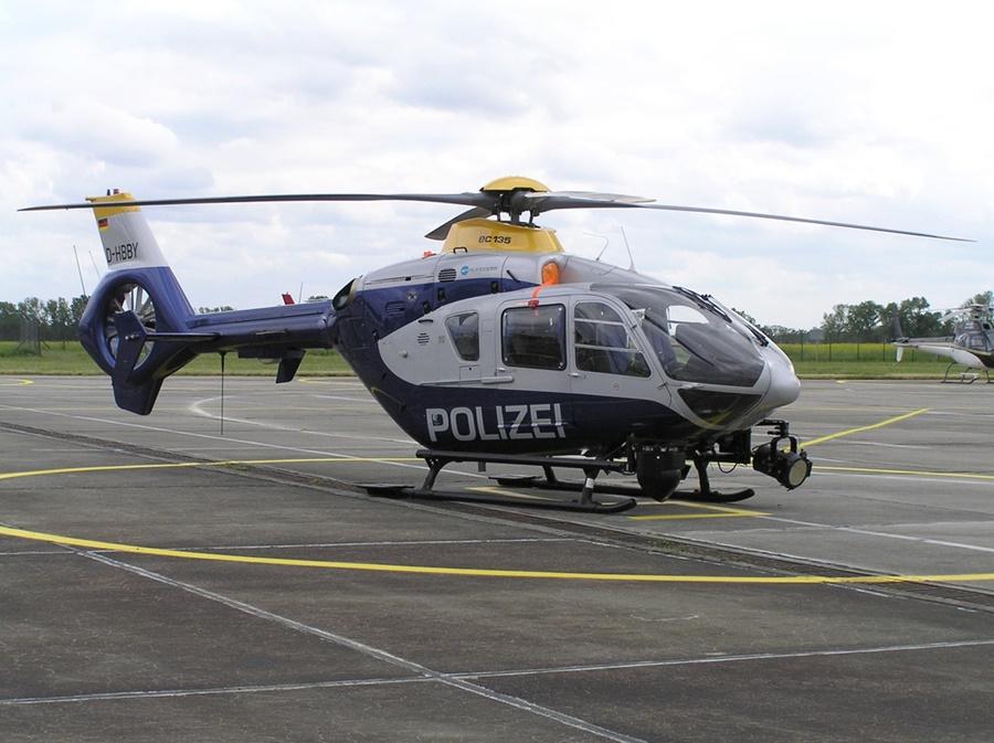 Noticias de aeropuertos. Noticias de control aéreo. Helicóptero de la policía alemana