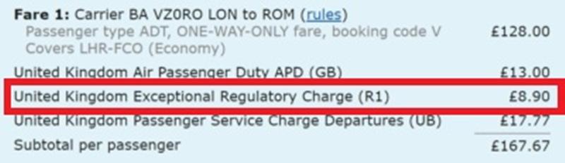Noticias de aeropuertos. Noticias de compañías aéreas. Nueva tasa en un billete aéreo.