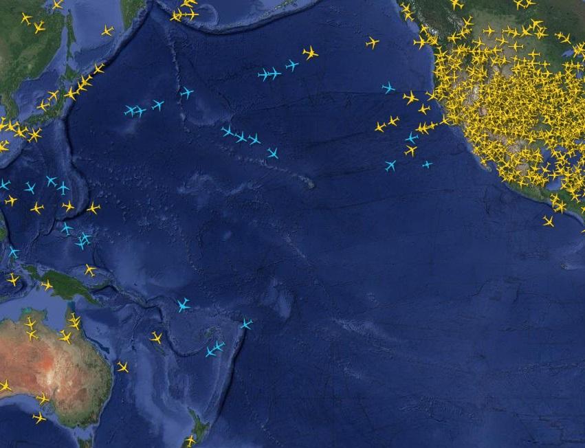 Noticias de aviación. Espacio aéreo del Pacífico.