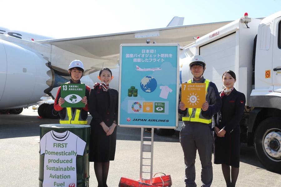 Noticias de aeropuertos. Noticias de aviación. Noticias de aerolíneas. Primer vuelo de JAL con biocombustibles