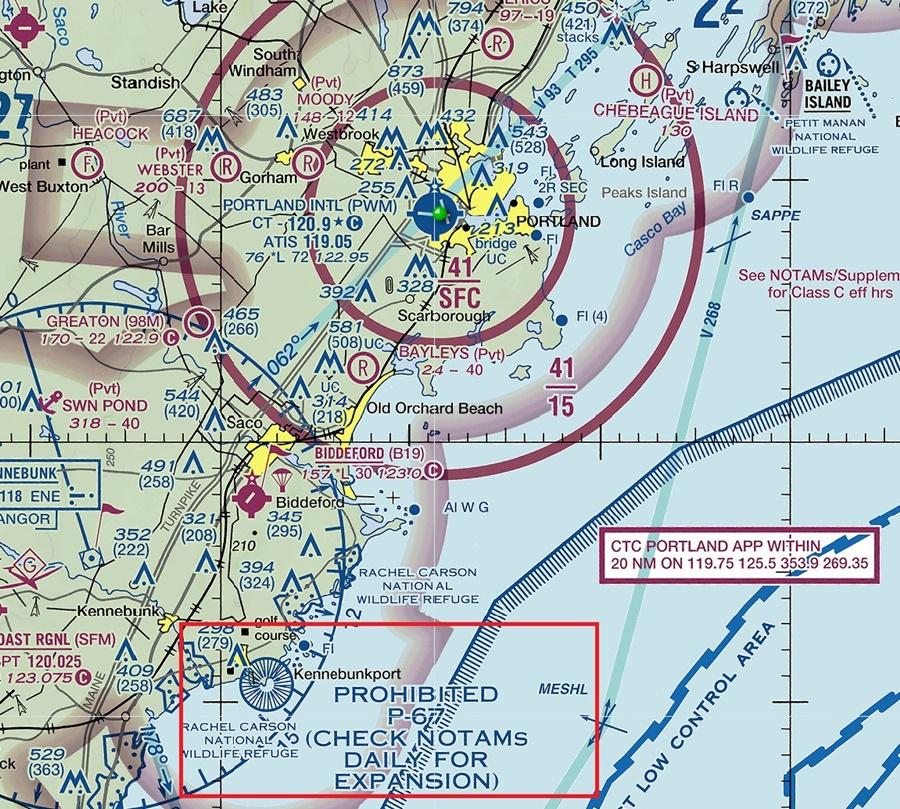 Noticias de aviación. Espacio aéreo prohibido en EEUU.
