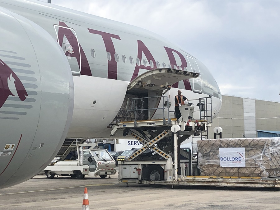 Noticias de aerolíneas. Noticias de compañías aéreas. Avión de carga de Qatar Airways