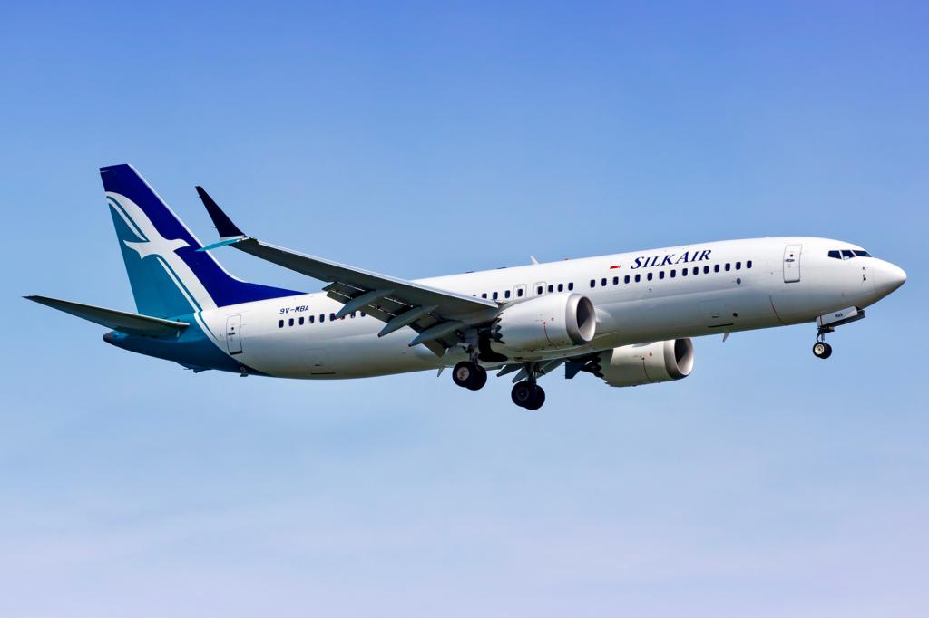 Noticias de aviones. Noticias de compañías aéreas. Boeing 737MAX de Silk Air
