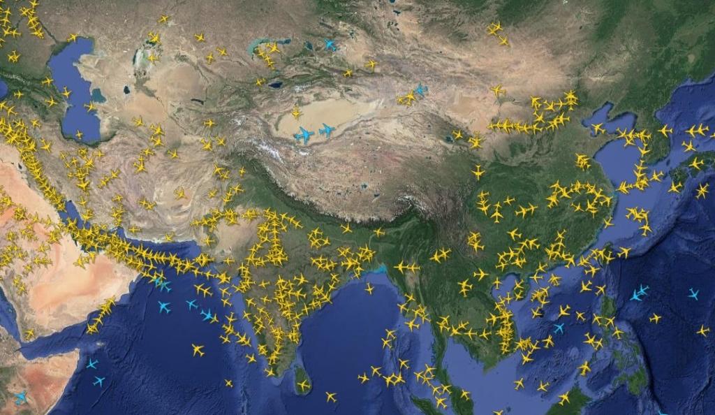 Noticias de aviación. Espacio aéreo del Tibet