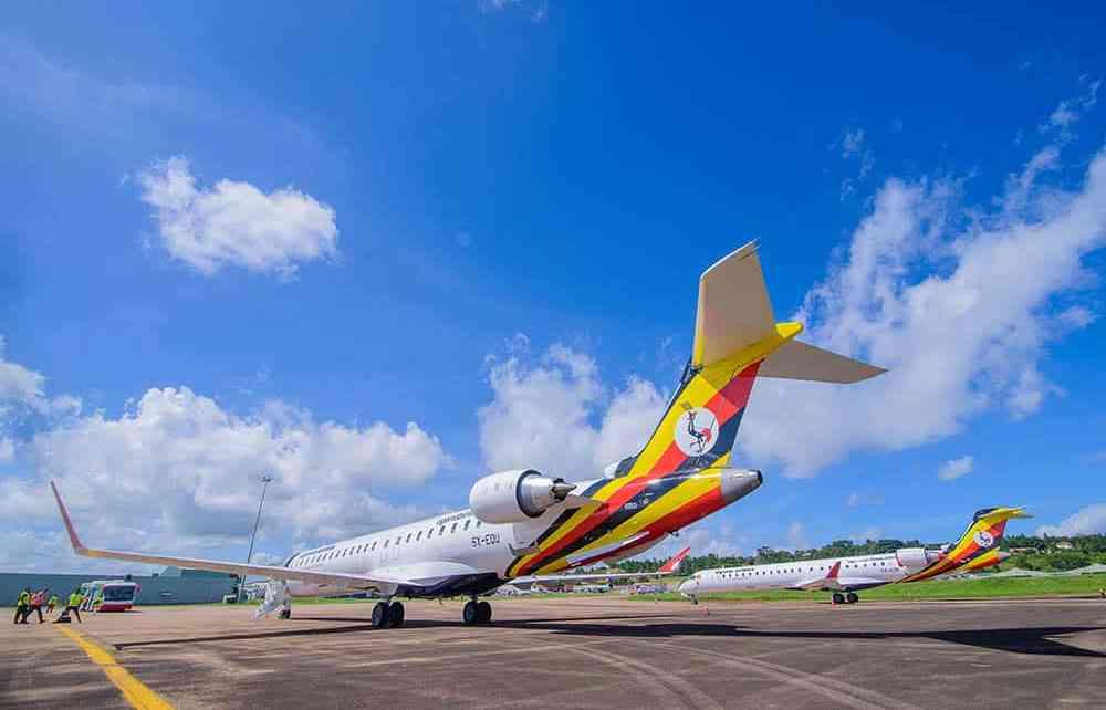Noticias de aerolíneas. Noticias de compañías aéreas. CRJ-900 de Uganda Airlines