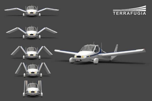 Noticias de aviones. Novedades aéreas. Alas plegables en el nuevo Terrafugia Transition
