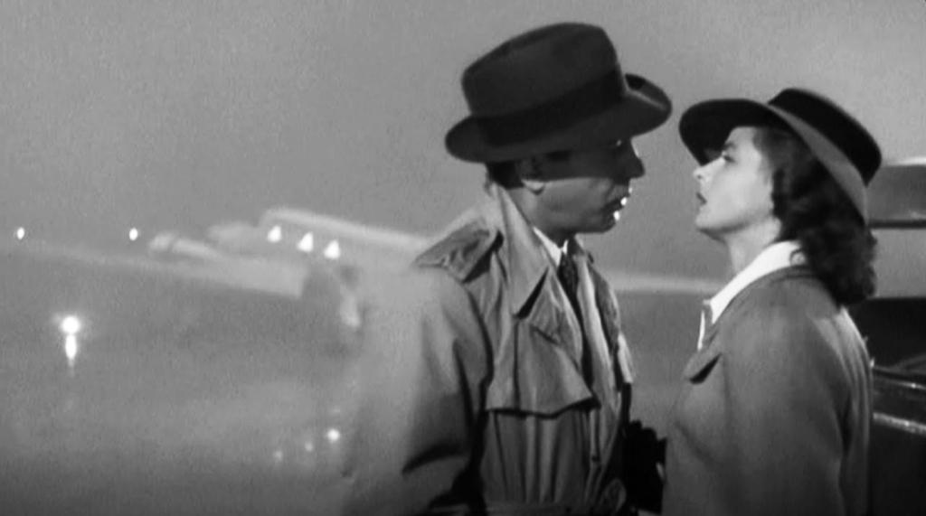 Noticias de aeropuertos. Noticias de aviación. Escena de despedida de la película Casablanca.