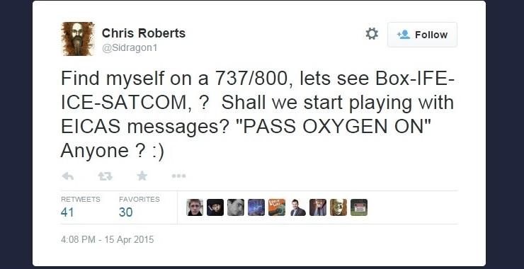 Noticias de aviones. Noticias de aviación. Tweet de un hacker que pretendía haber controlado un Boeing 737