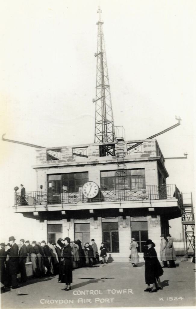 Noticias de aeropuertos. Noticias de aviación. Primera torre de control aéreo en Croydon