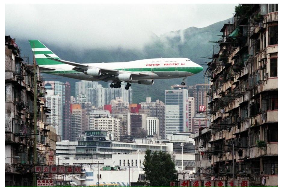 Noticias de aeropuertos. Noticias de aviación. Aproximación al aeropuerto de Kai Tak