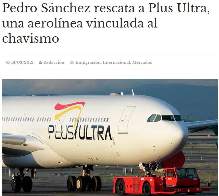 Noticias de aerolíneas. Noticias de compañías aéreas. Artículo sobre el rescate de Plus Ultra.