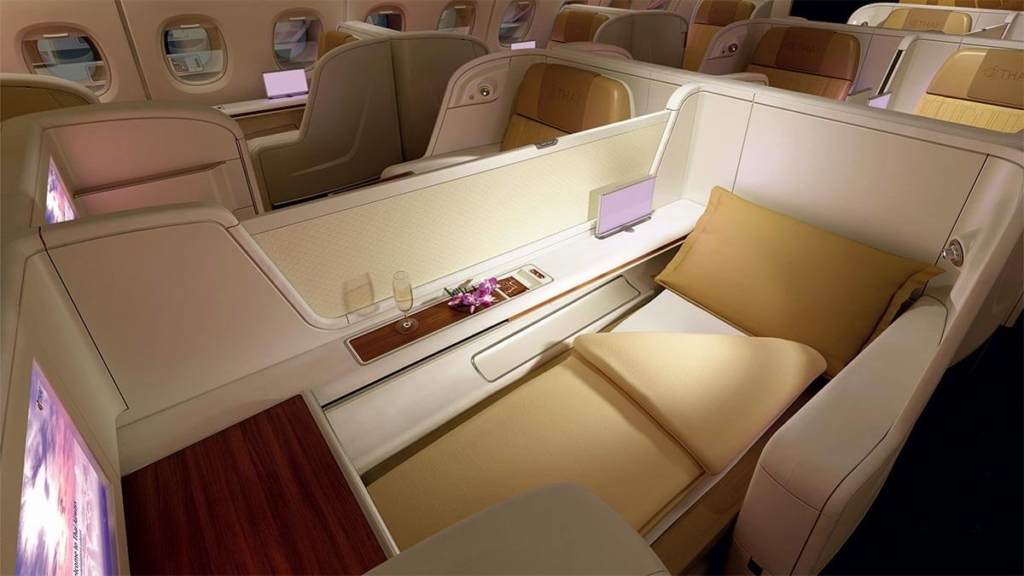 Noticias de aerolíneas. Noticias de compañías aéreas. Primera clase en el Airbus A380 de Thai.