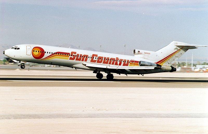 Noticias de aerolineas. Noticias de compañías aéreas. Primer avión de Sun Country Airlines