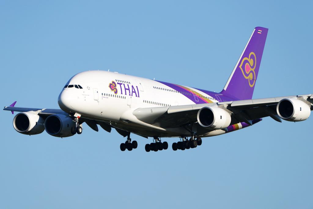 Noticias de aerolíneas. Noticias de compañías aéreas. Airbus A380 de Thai Airways