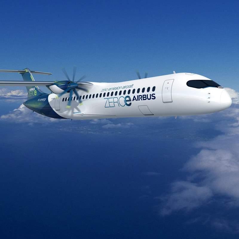 Noticias de aviones. Noticias de aviación. Nuevos aviones de Airbus sin emisiones dañinas para la atmósfera