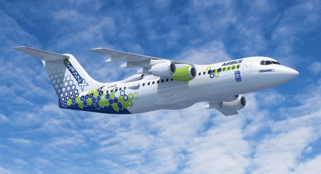 Noticias de aviación. Noticias de aviones. Proyecto de avión eléctrico de Airbus