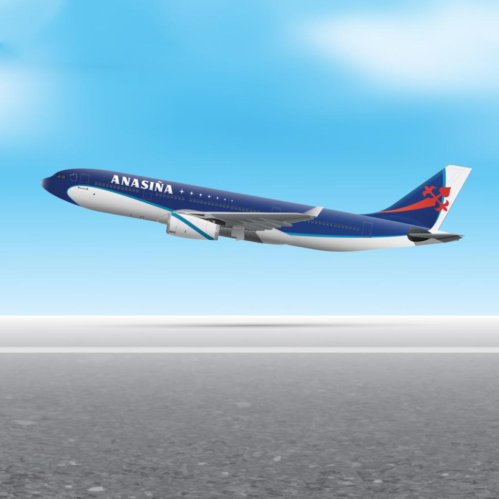 Noticias de aviones. Noticias de aerolíneas. Diseño avión de ANASIÑA VOLVORETA 25J