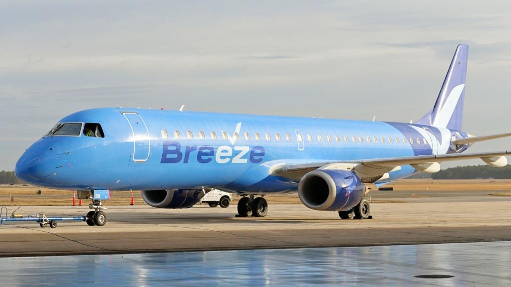 Noticias de aviones. Noticias de aerolíneas. Embraer E190 de Breeze Airways