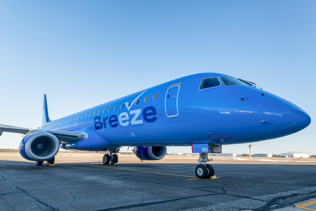 Noticias de aviones. Noticias de aviación. Embraer de Breeze Airways