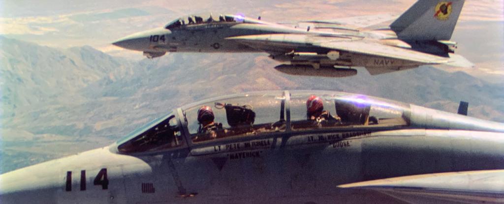Noticias de aviones. Noticias de aviación. Dos F14 en una escena de Top Gun