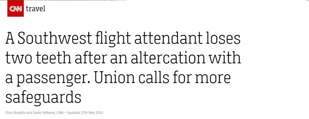 Noticias de aerolíneas. Noticias de compañías aéreas. Noticia aparecida en CNN travel sobre Southwest.