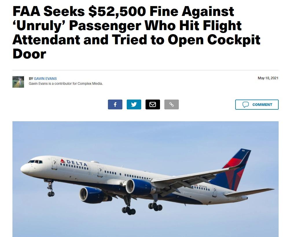 Noticias de aerolíneas. Noticias de compañías aéreas. Noticia sobre incidente con pasajero de Delta Airlines.