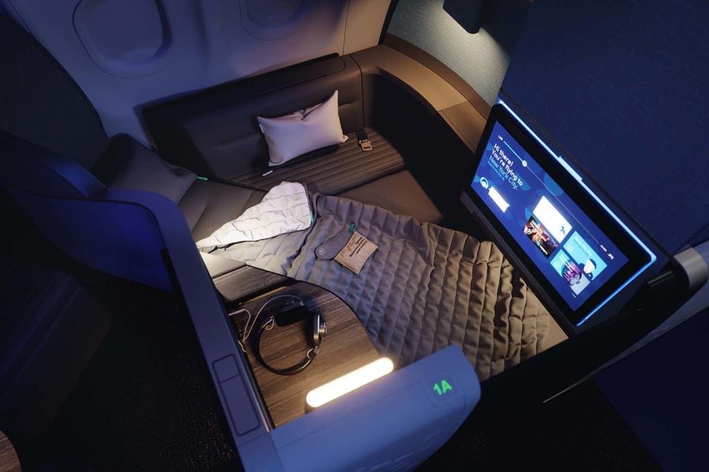 Noticias de aerolíneas. Noticias de compañías aéreas. Mint Studio en el A321lr de JetBlue