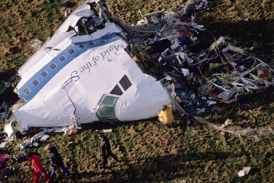 Noticias de aviones. Noticias de aviación. Restos del 747 tras el atentado en Lockerbie