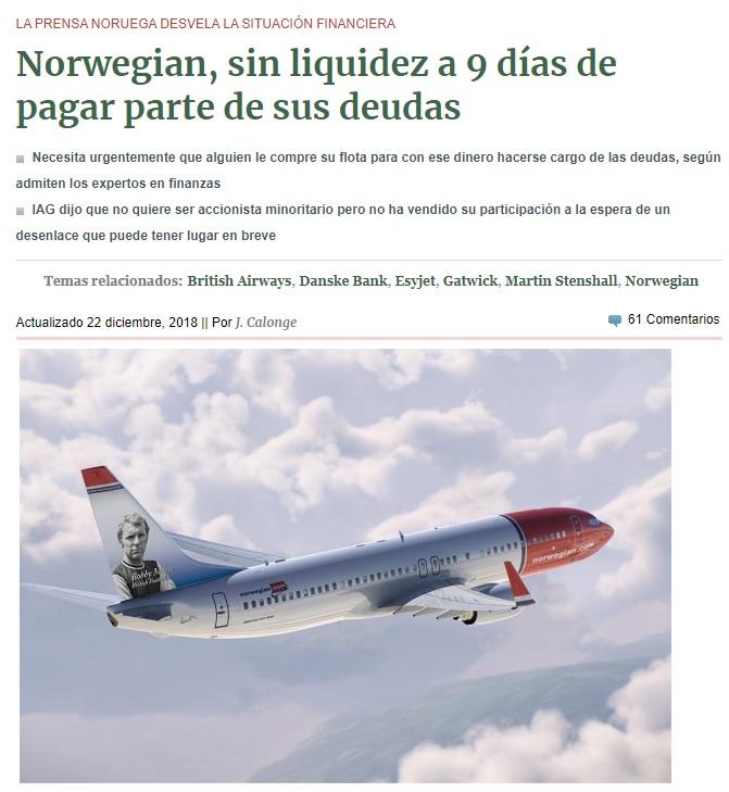 Noticias de aviación. Noticias de compañías aéreas.