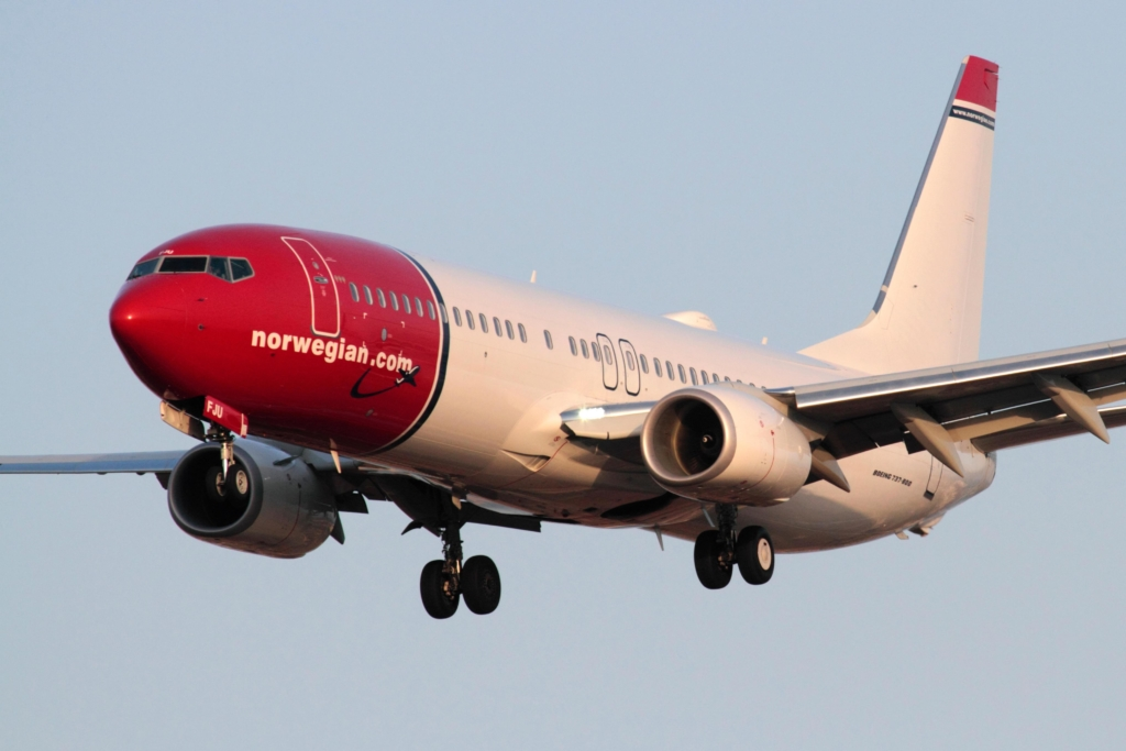 Noticias de aviones. Noticias de aerolíneas. Boeing 737 de Norwegian
