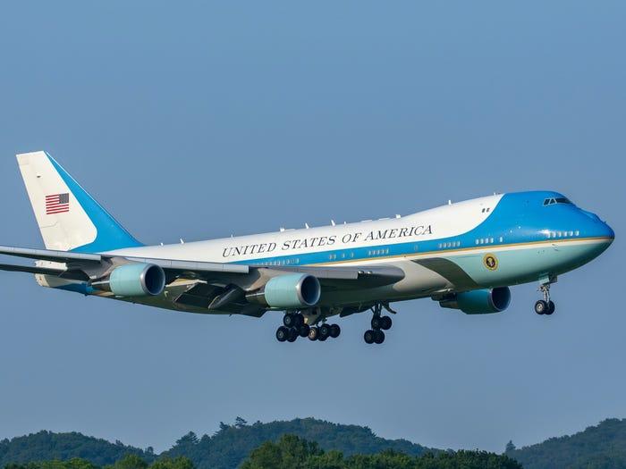 Actualidad aérea. Actualidad sobre aviones. Air Force One, avión presidencial de los EEUU.
