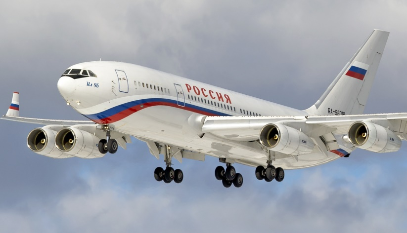 Actualidad aérea. Actualidad sobre aviones. Ilyushin 96-300PU, avión presidencial ruso