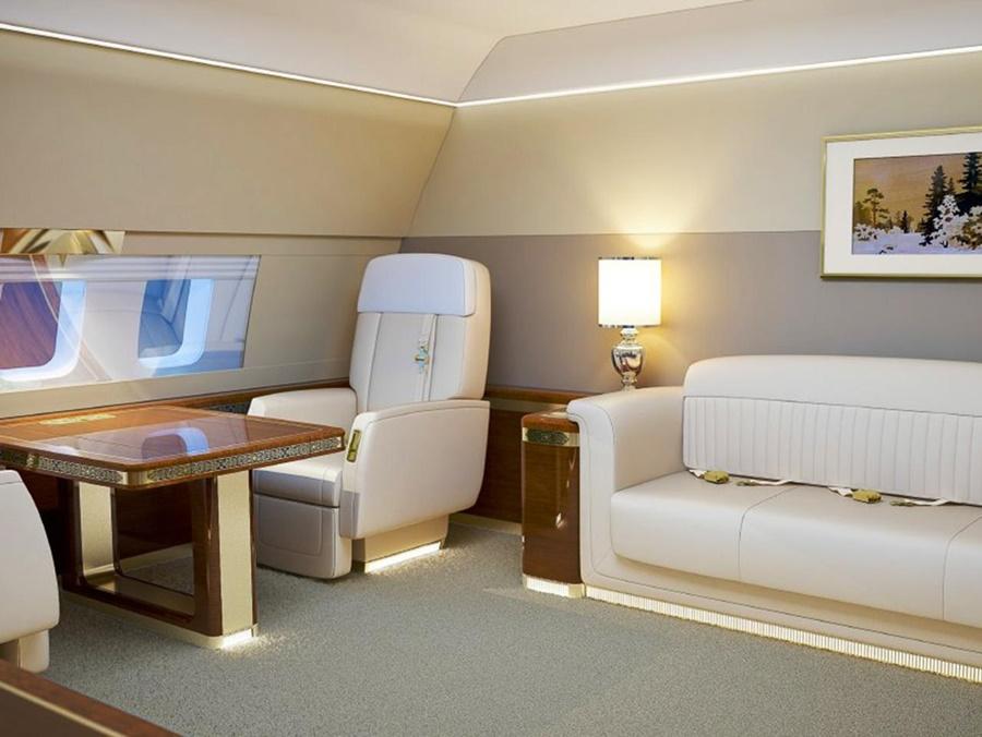 Actualidad aérea. Actualidad sobre aviones. Interior del avión presidencial ruso
