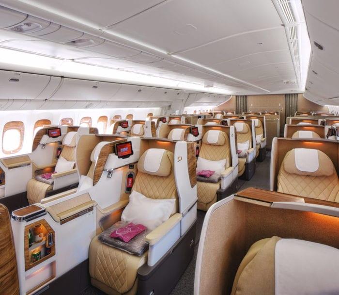 Noticias de aerolíneas. Noticias de compañías aéreas. Interior del Boeing 777-300ER de Emirates