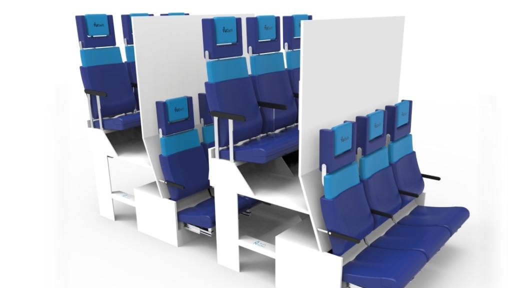 Noticias de aviones. Noticias de aviación. Concepto de cabina a dos alturas de la universidad TuDelft