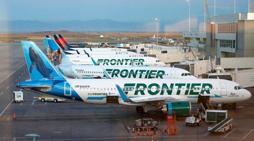 Noticias de aerolíneas. Noticias de compañías aéreas. Varios aviones de Frontier Airlines