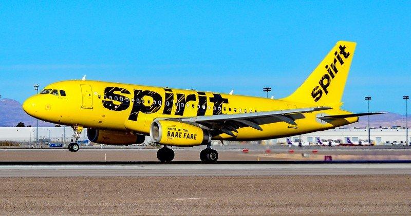 Noticias de aerolíneas. Noticias de compañías aéreas. Aeronave de la flota de Spirit Airlines