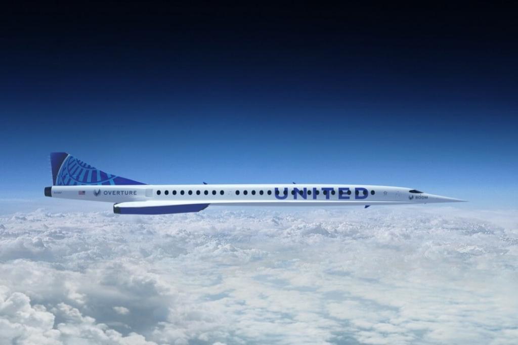 Noticias de compañías aéreas. Noticias de aerolíneas. Prototipo Overture de la firma Boom