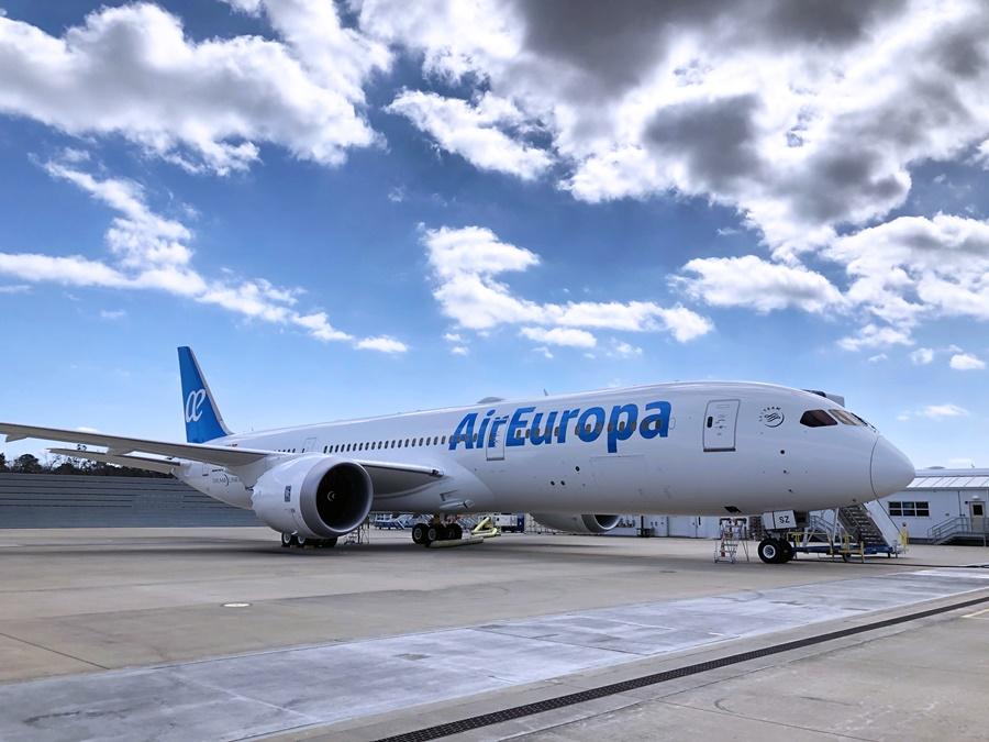 Boeing 787 de la flota de la aerolínea española Air Europa
