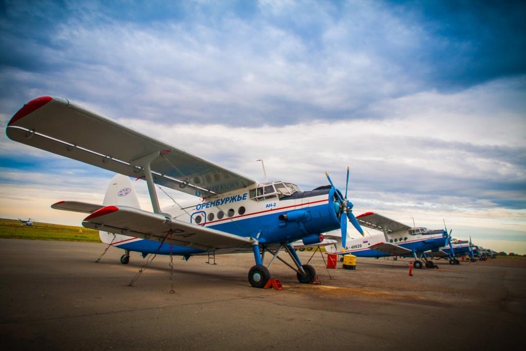 Aviones del modelo An-2 pertenecientes a la flota de la aerolínea rusa Orenburzhye