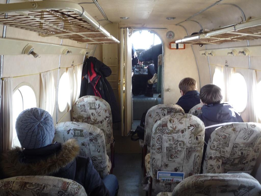 Interior de un An-2 destinado al transporte de pasajeros