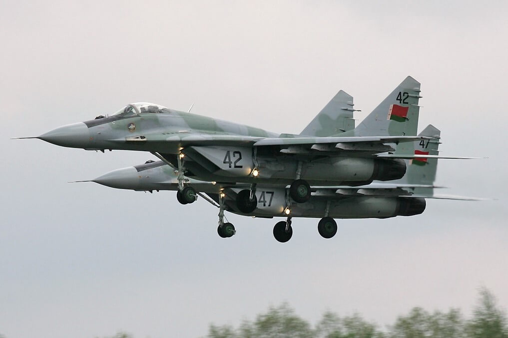 Cazas militares de la fuerza aérea de Bielorrusia